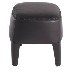 Gianfranco Ferré Mini Pouf in Wood with Leather Upholstery
