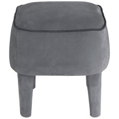 Gianfranco Ferré Home Mini Pouf in Nabuk DARK SILVER