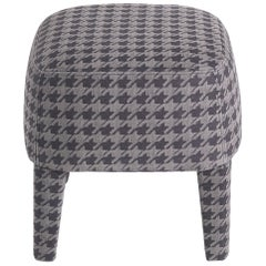 Gianfranco Ferré Mini Pouf in Wood with Printed Nabuk Leather