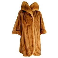 "Gianfranco FERRE ""New"" Couture Champagne Wild Mink Silk Lined Fur Coat - Unworn"