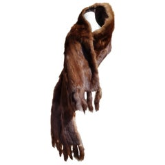 "Gianfranco FERRÉ ""New"" Dark Brown Russian Wild Barguzinski Fur Stole Whole Skins"
