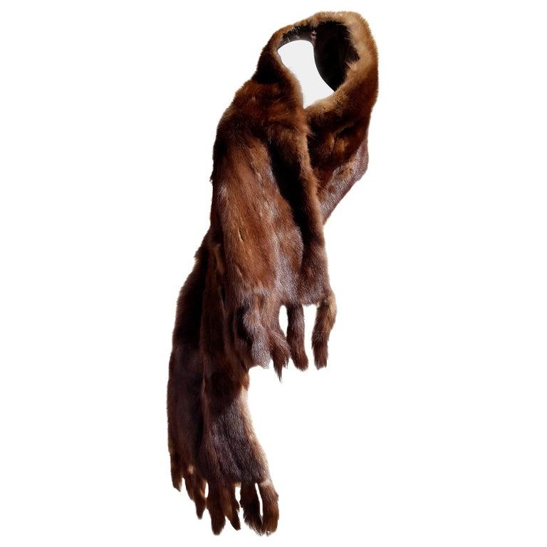 "Gianfranco FERRÉ ""New"" Dark Brown Russian Wild Barguzinsky Sable Fur Stole  For Sale"