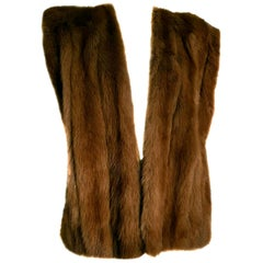 "Gianfranco FERRÉ ""New"" Haute Couture wild Marten Brown Fur Vest Gilet - Unworn"