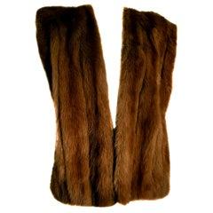 """Gianfranco FERRÉ """"New"""" Haute Couture wild Marten Brown Fur Vest Gilet - Unworn"""