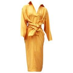 "Gianfranco FERRÉ ""New"" Haute Couture Yellow Silk Shantung Dress - Unworn"