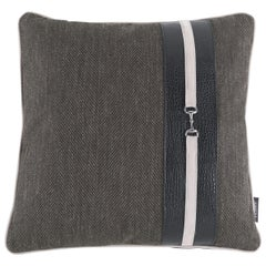 Gianfranco Ferré Noho Cushion in Fabric and Leather