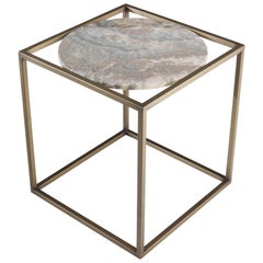 Gianfranco Ferré Norrebro Side Table in Metal and Bronze Finish