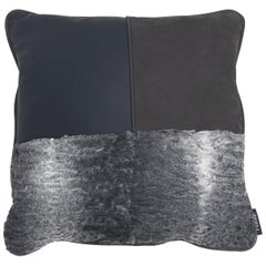 Gianfranco Ferré Precious, 3 Cushion in Leather and Velvet