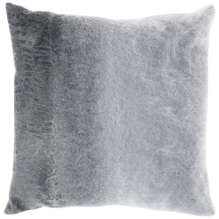 Gianfranco Ferré Precious Astrakan Cushion in Mohair and Velvet For Sale
