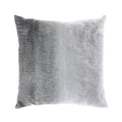 Gianfranco Ferré Precious Astrakan Pillow in Grey Fabric with Mohair
