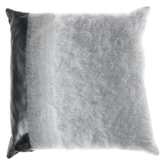 Gianfranco Ferré Precious Grey Cushion in Mohair and Leather