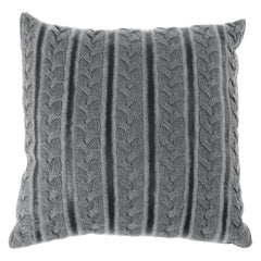 Gianfranco Ferré Precious Knitted Cushion in Wool and Leather