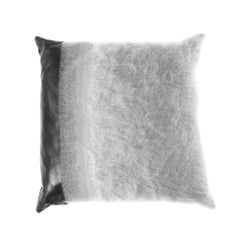 Gianfranco Ferré Precious Pillow in Grey Fabric with Mohair