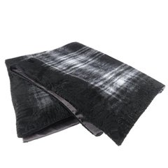 Gianfranco Ferré Precious Tartan Throw in Black Velvet