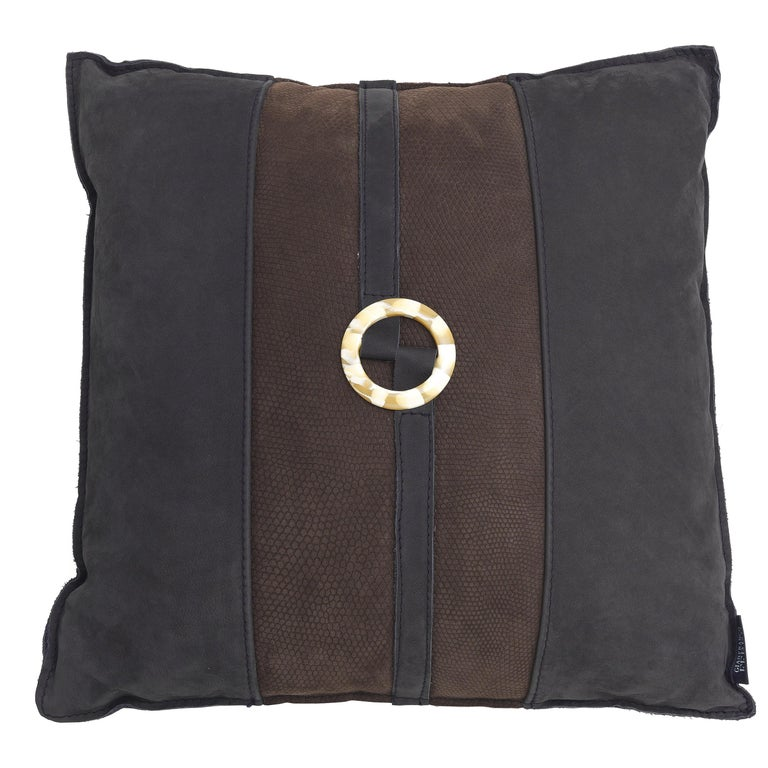 Gianfranco Ferré Ring_2 Cushion in Leather For Sale
