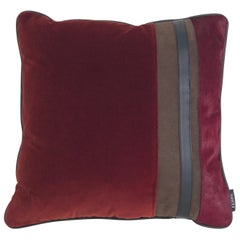 Gianfranco Ferré Road_1 Cushion in Velvet and Leather