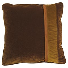 Gianfranco Ferré Road_4 Cushion in Velvet and Leather