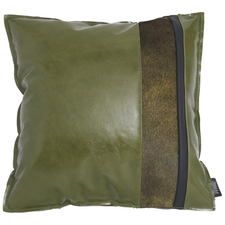 Gianfranco Ferré Road_5 Cushion with Leather Bands For Sale