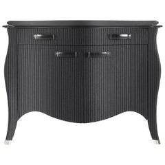 Gianfranco Ferre Roger Side Board in Poplar and Fabric