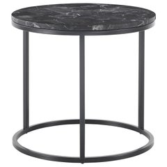Gianfranco Ferré Home Ross Small Round Table in Steel and Marble