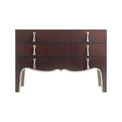 Gianfranco Ferré Home Royal Chest of Drawers in Mahogany and Leather