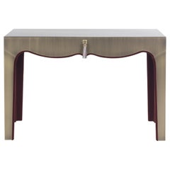 Gianfranco Ferré Home Royal Dressing Table covered in Metal with Bronze Finish