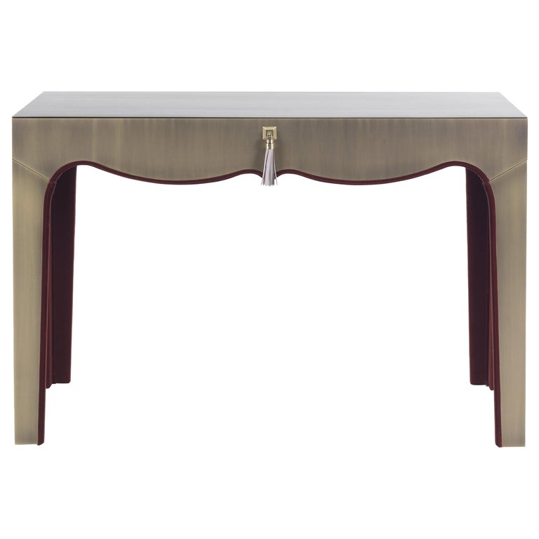 Gianfranco Ferré Royal Dressing Table in Metal with Bronze Finish For Sale