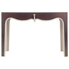Gianfranco Ferre Royal Dressing Table in Metal with Mahogany Finish