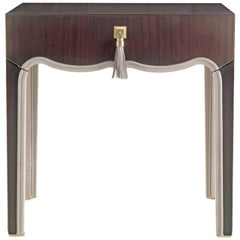 Gianfranco Ferré Royal Night Table in Brass and Leather
