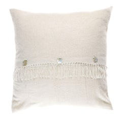Gianfranco Ferré Home Sindia Beige Cushion in Cashmere