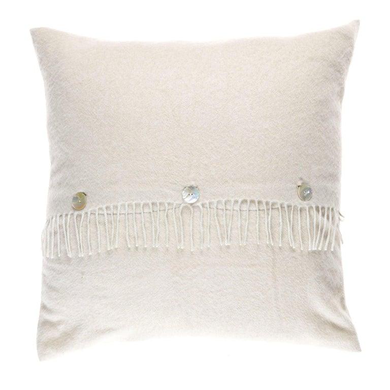 Gianfranco Ferré Sindia Beige Cushion in Cashmere For Sale