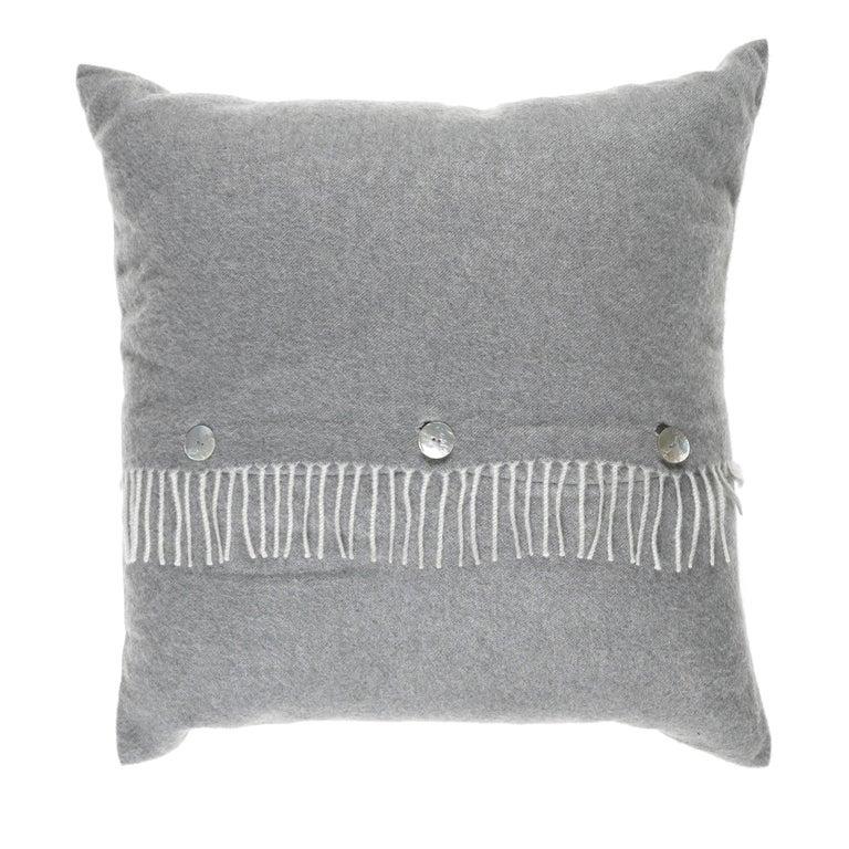 Gianfranco Ferré Sindia Grey Cushion in Cashmere For Sale