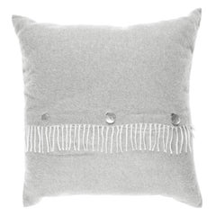 Gianfranco Ferré Home Sindia Silver Cushion in Cashmere