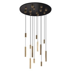 Gianfranco Ferré Small Hope Chandelier in Brass and Iron