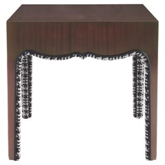Gianfranco Ferré Home Royal Side Table in Mahogany Finish