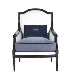Gianfranco Ferré Home Sweet Armchair in Fabric and Leather
