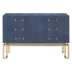 Gianfranco Ferré Home Trafalgar Chest of Drawers in Metal and Leather