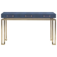 Gianfranco Ferré Home Trafalgar Dressing Table in Metal and Leather