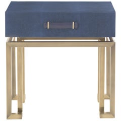 Gianfranco Ferré Home Trafalgar Night Table in Metal and Leather