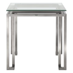 Gianfranco Ferré Home Trafalgar Side Table in Metal with Chrome Finishing