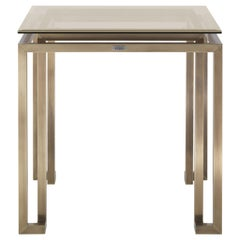 Gianfranco Ferré Home Trafalgar Side Table in Metal with Bronzed Finishing