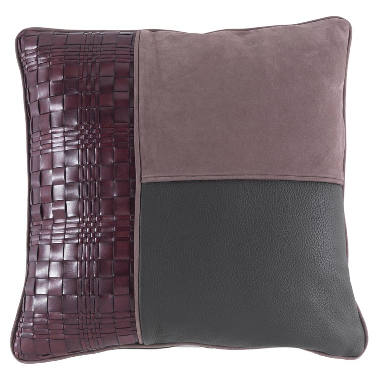 Gianfranco Ferré Tribeca _1 Cushion in Leather For Sale