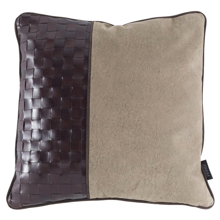 Gianfranco Ferré Tribeca _4 Cushion in Leather For Sale