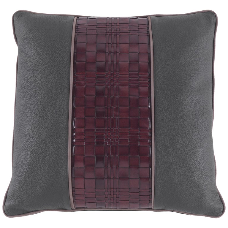Gianfranco Ferré Tribeca_2 Cushion in Leather For Sale
