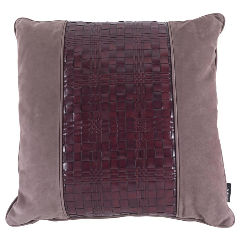 Gianfranco Ferré Tribeca_3 Cushion in Leather For Sale