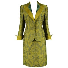Gianfranco Ferre Vintage Brocade Skirt Suit