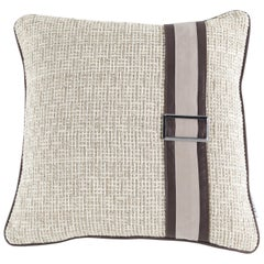 Gianfranco Ferré Wahi Cushion in Fabric and Leather