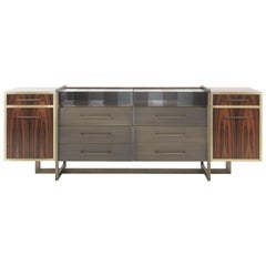 Gianfranco Ferré Wallace Side Board in Wood and Metal