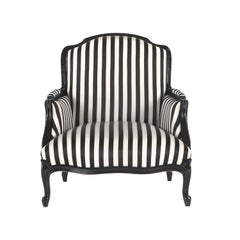 Gianfranco Ferré Welcome Armchair in Black & White Jacquard Fabric