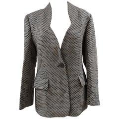 Gianfranco Ferre white grey blazer wool jacket